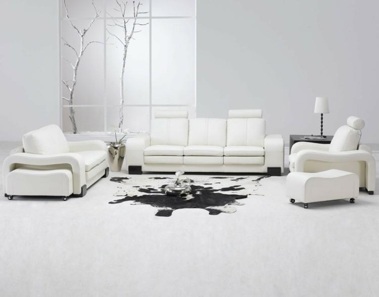 salon design minimaliste moderne idee
