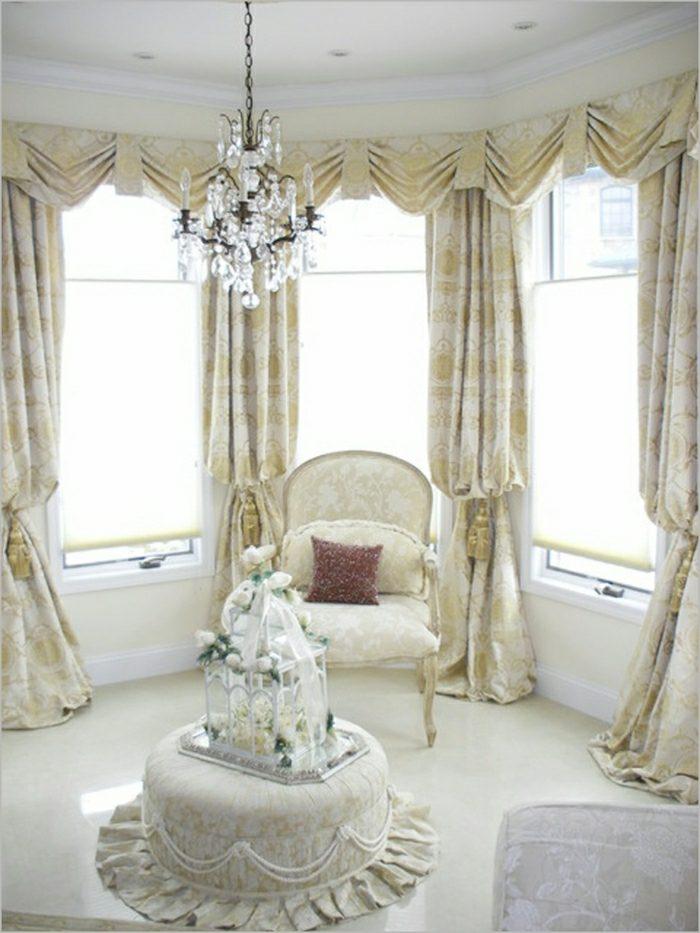 salon lux rideaux style royale