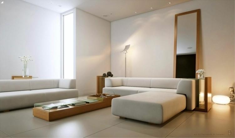salon minimaliste deco grand canapé