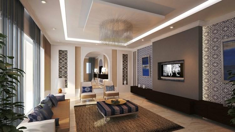 salon moderne design marocain