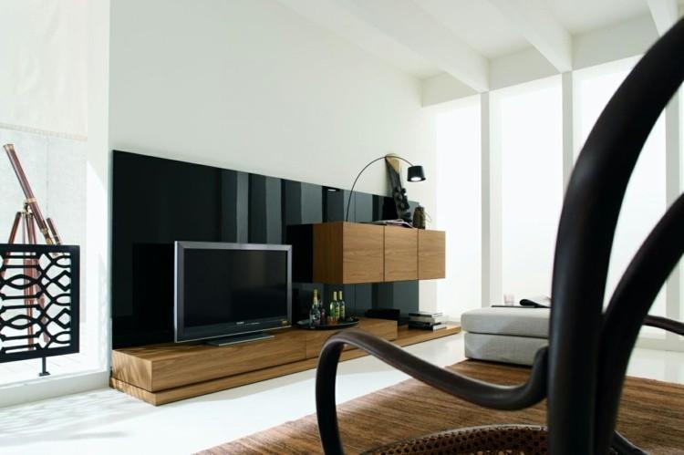 salon moderne meubles bois