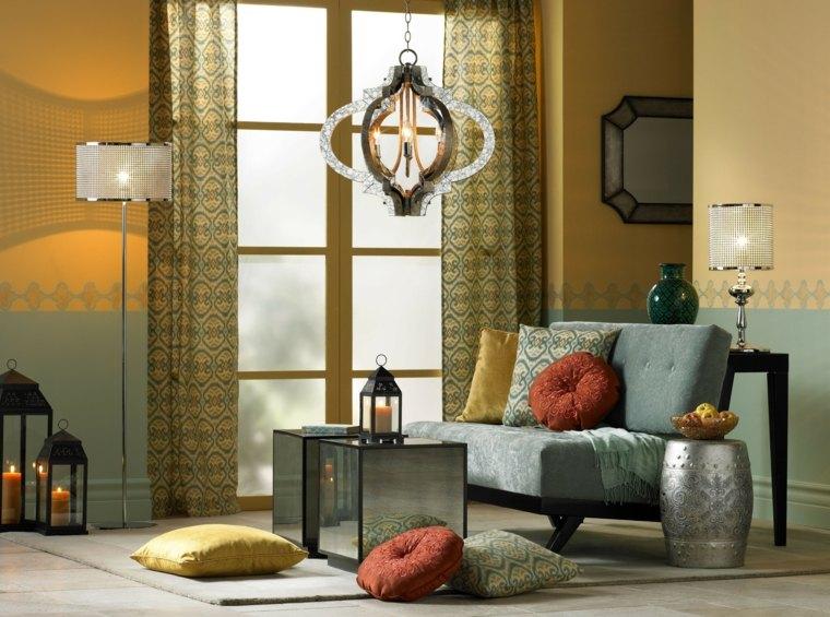 Salon moderne oriental d'inspiration marocaine