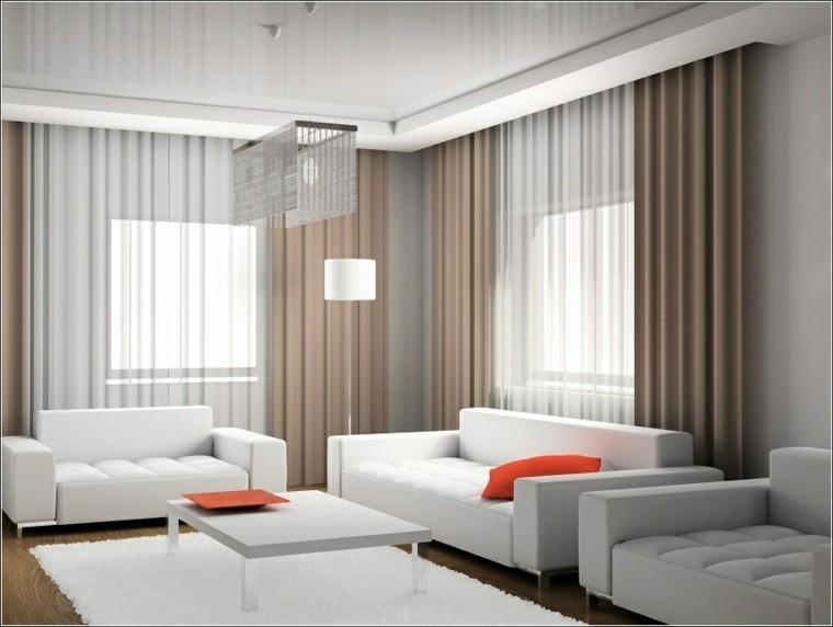 rideaux modernes salon beige canapé