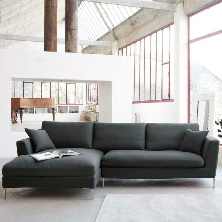 salon moderne style industriel