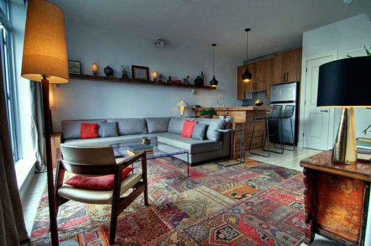 salon moderne tapis marocain