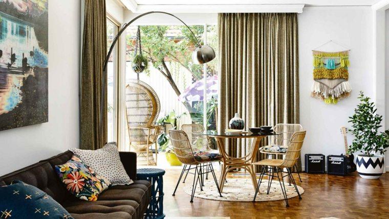 rideaux modernes salon