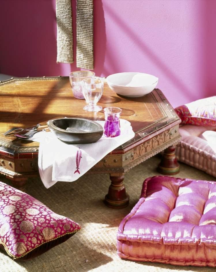 salon table basse accessoires marocains