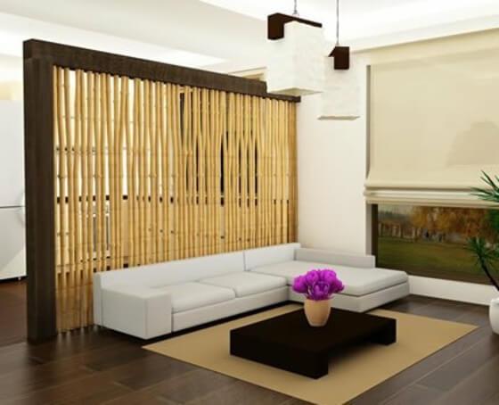 separateur piece design batones bambou