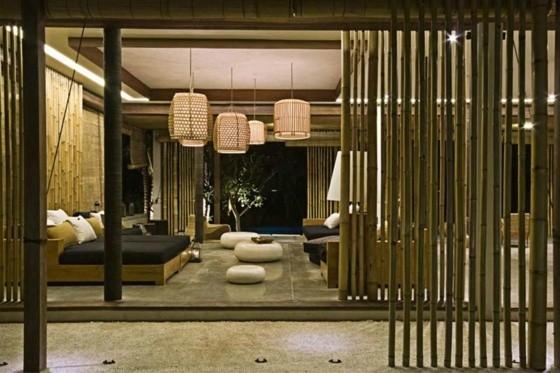 separateur piece design moderne bambou
