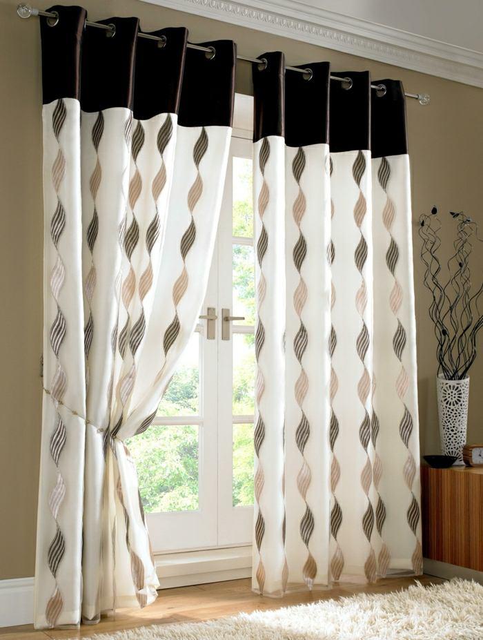 zoom rideaux modernes motifs