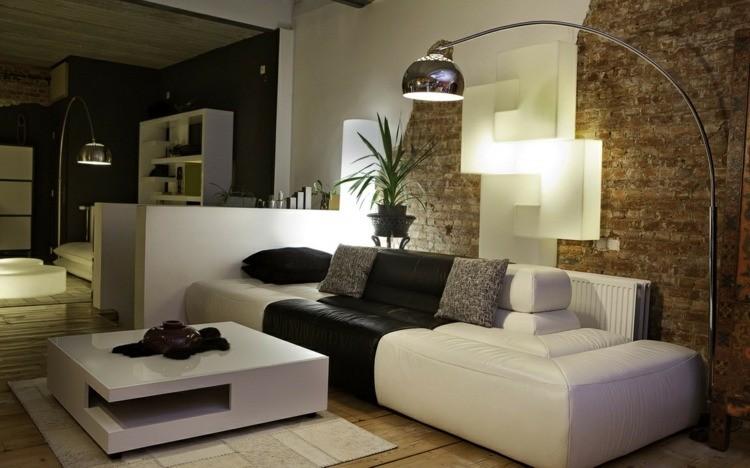 comment décorer son salon mur briques