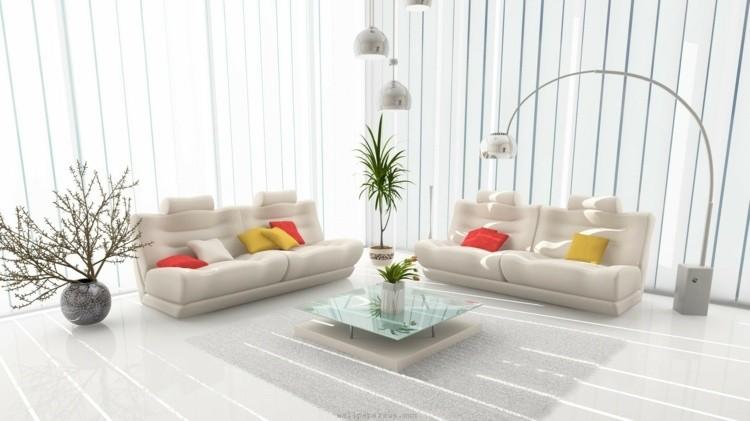 décoration intérieur salon blanc elegant
