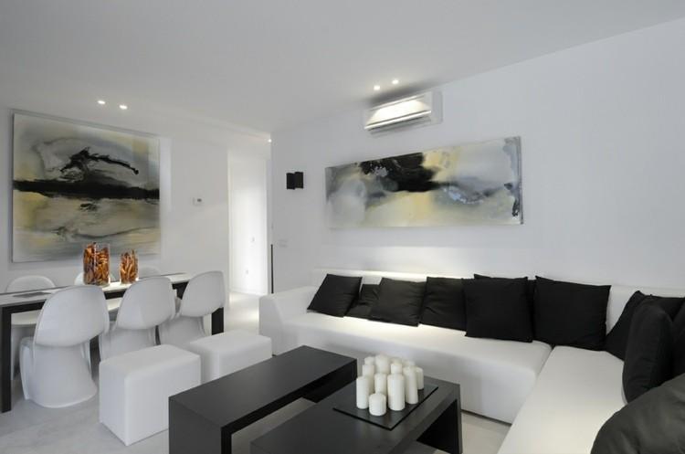 décoration intérieur salon blanc moderne design