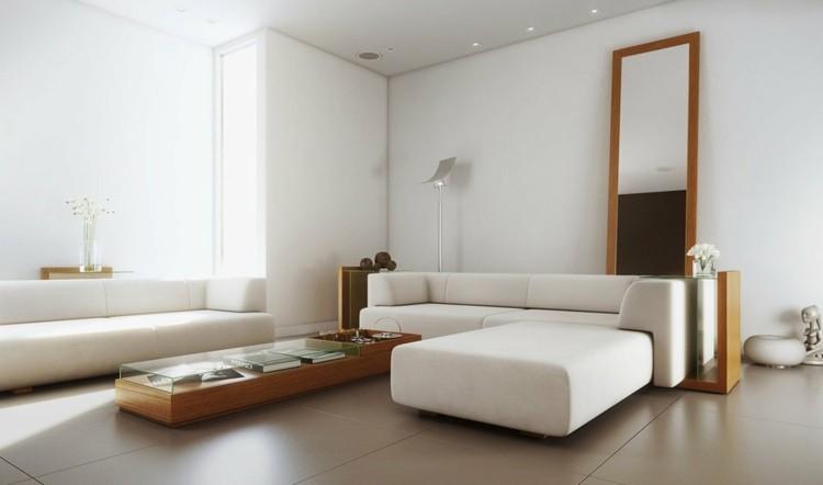 décoration intérieur salon blanc contemporain