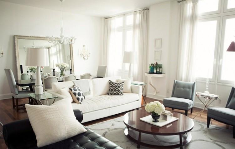 décoration salon salle a manger gris blanc