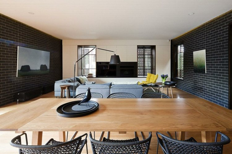décoration salon salle à manger table bois
