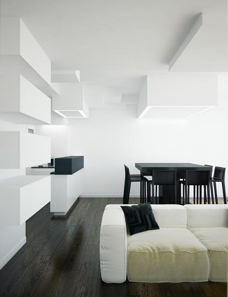 deco salon blanc et noir
