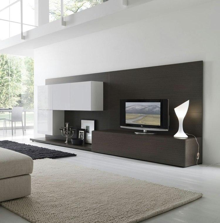 deco salon blanc meubles bois