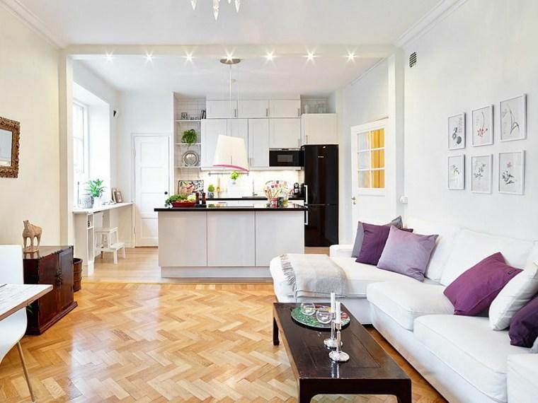 décoration salon salle à manger idée canapé blanc