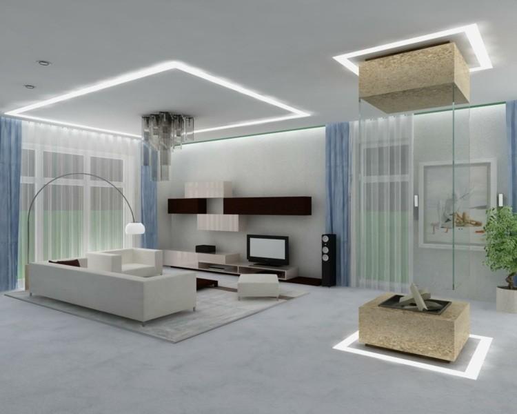 décoration intérieur salon blanc original
