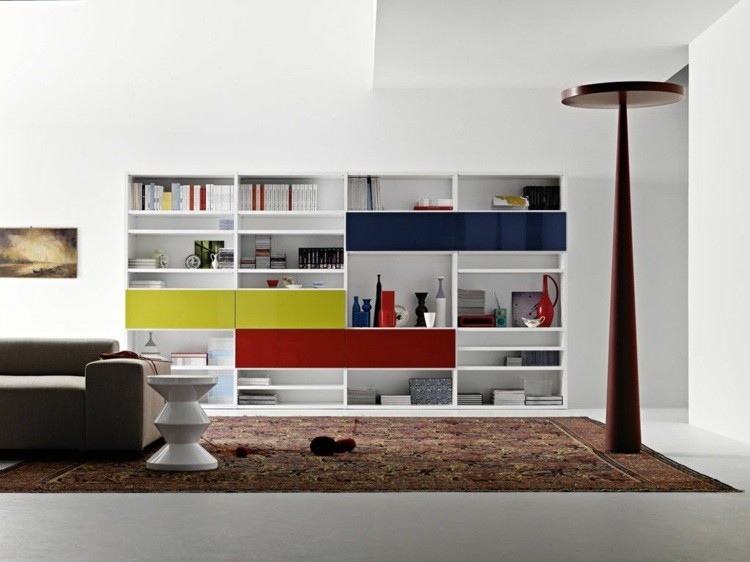 decoration salon etagere moderne