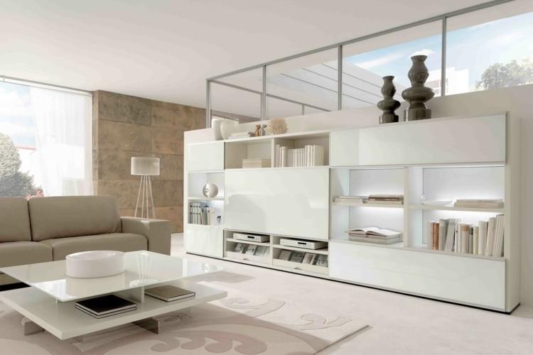 decoration salon moderne beige blanc