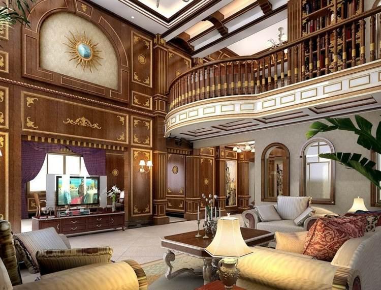 decoration salon moderne victorien