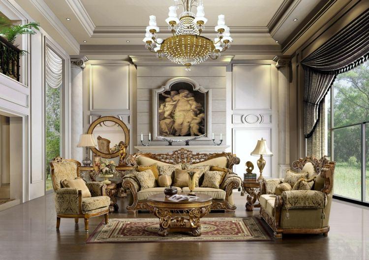 decoration salon victorien elegant