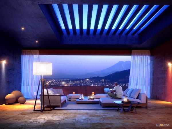 séjour contemporain idée aménagement design canapé gris
