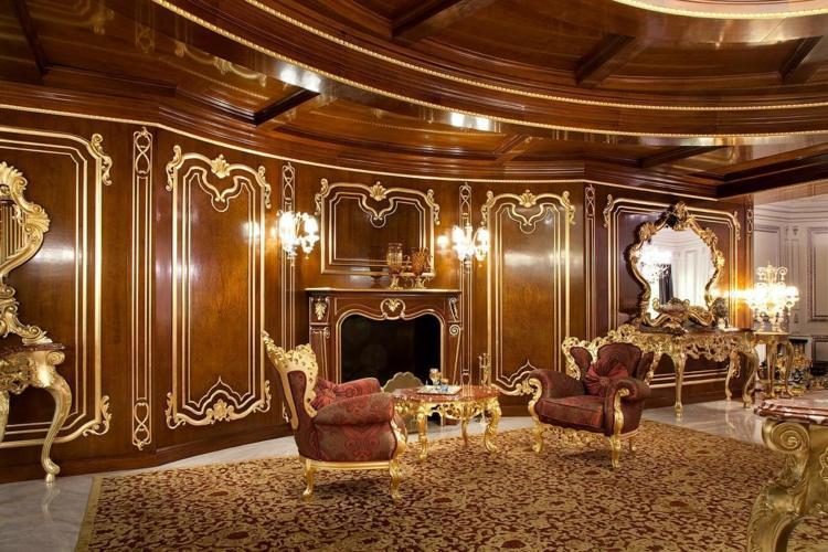 salon déco victorien luxe