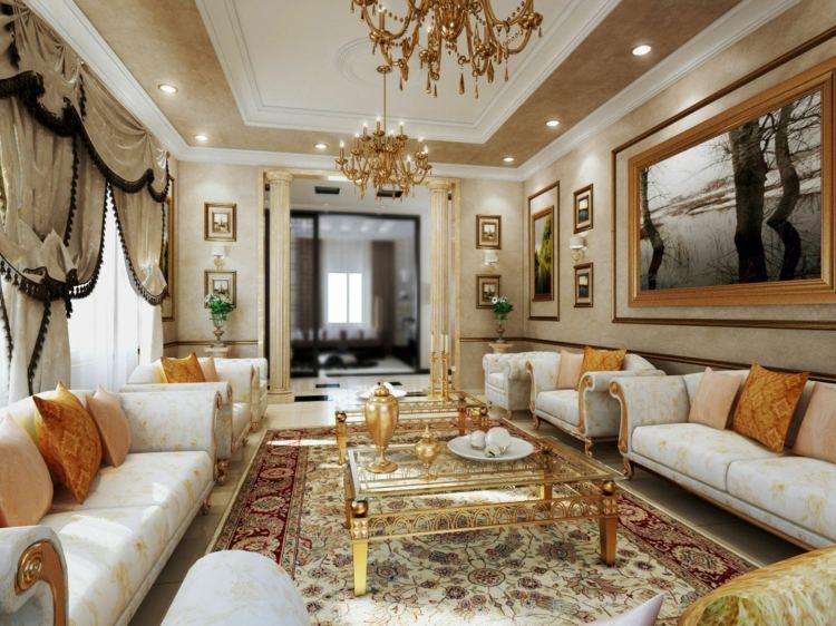 salon deco victorienne luxe