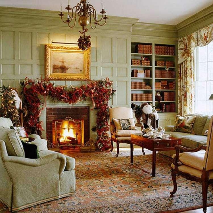 salon deco victorienne mobilier bois