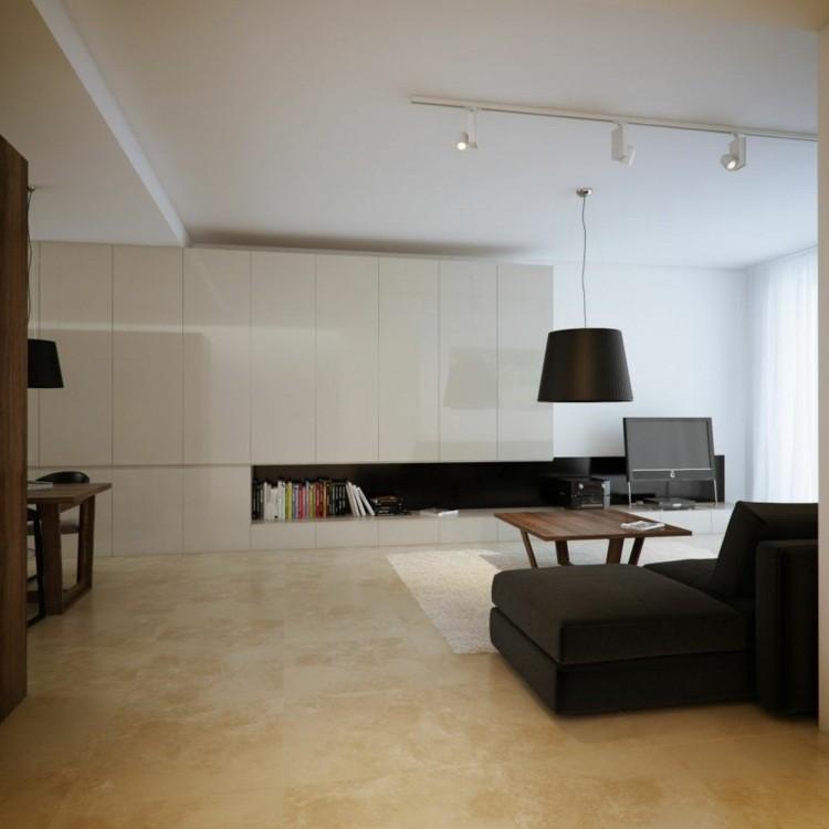 salon noir et blanc elegant