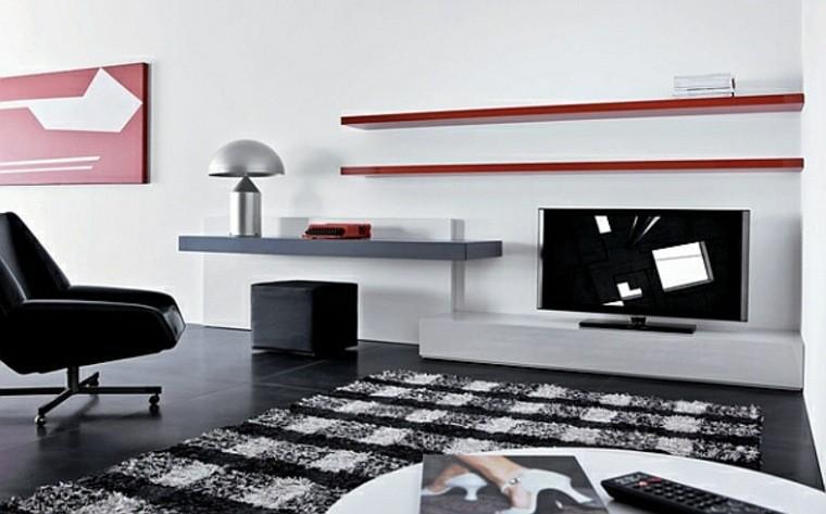 carrelage salon noir tableau déco moderne