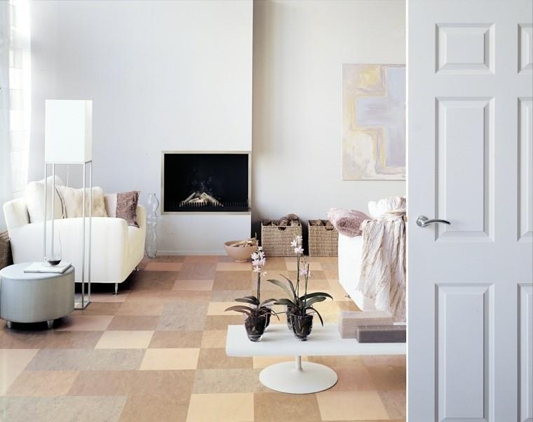 salon aménagement original design fauteuil blanc télé
