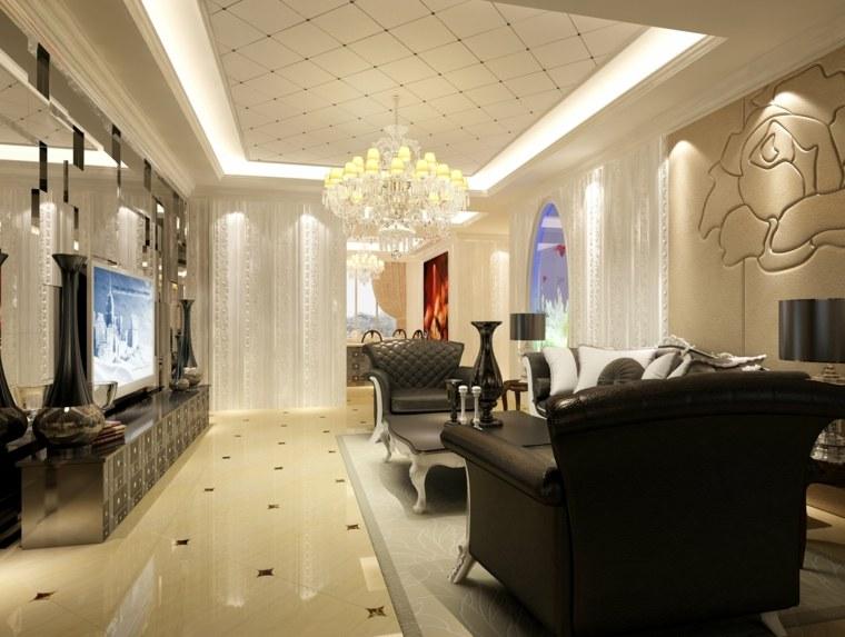 carrelage salon decoration contemporaine