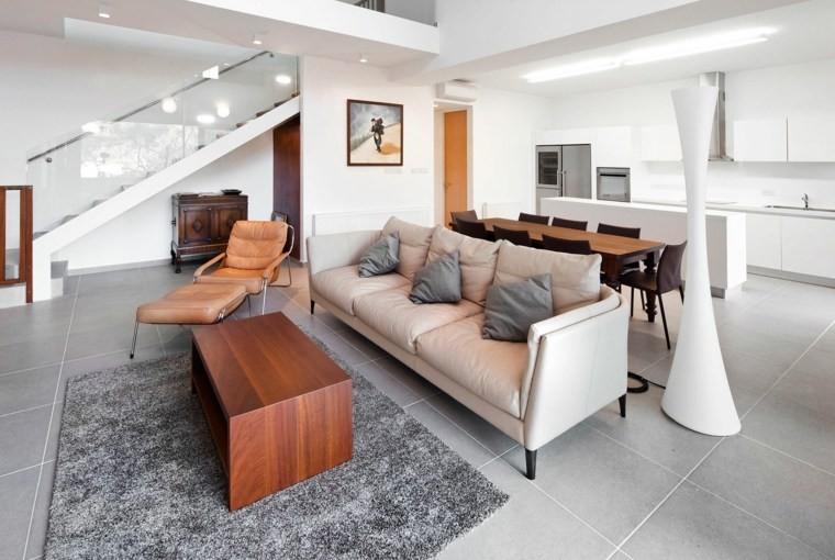 carrelage salon gris modernne