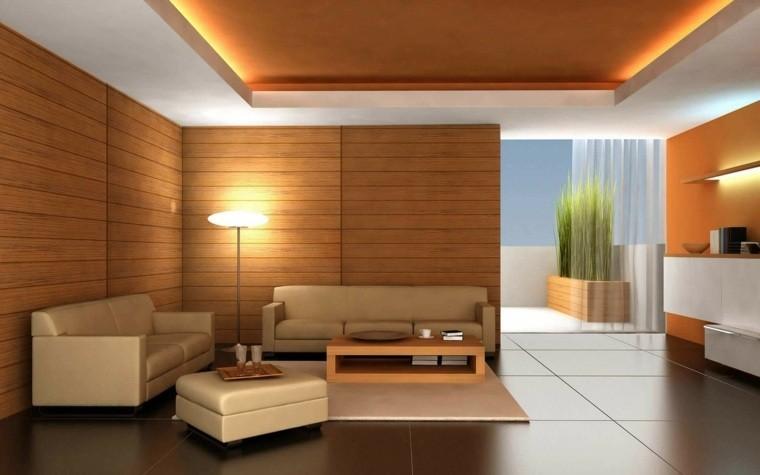 aménagement salon moderne carrelage canapé beige