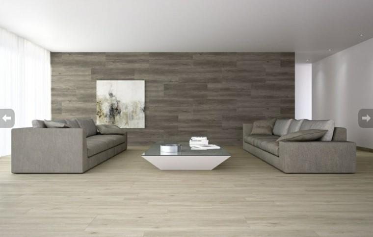 carrelage gris parquet salon idée déco moderne