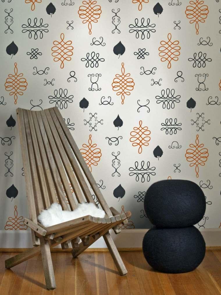 maison design rétro murs salon