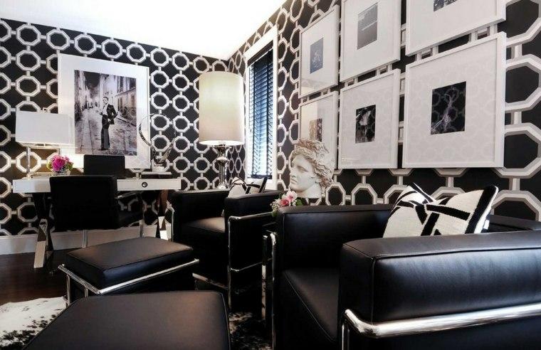 deco artistique salon deco noir et blanc