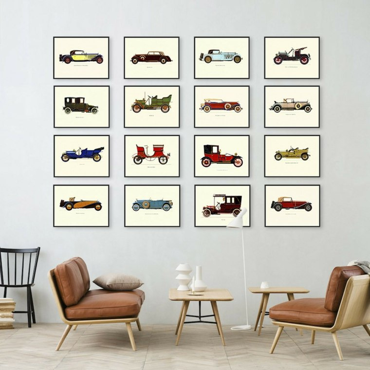 Déco mur salon : 50 idées rétro, vintage et artistiques