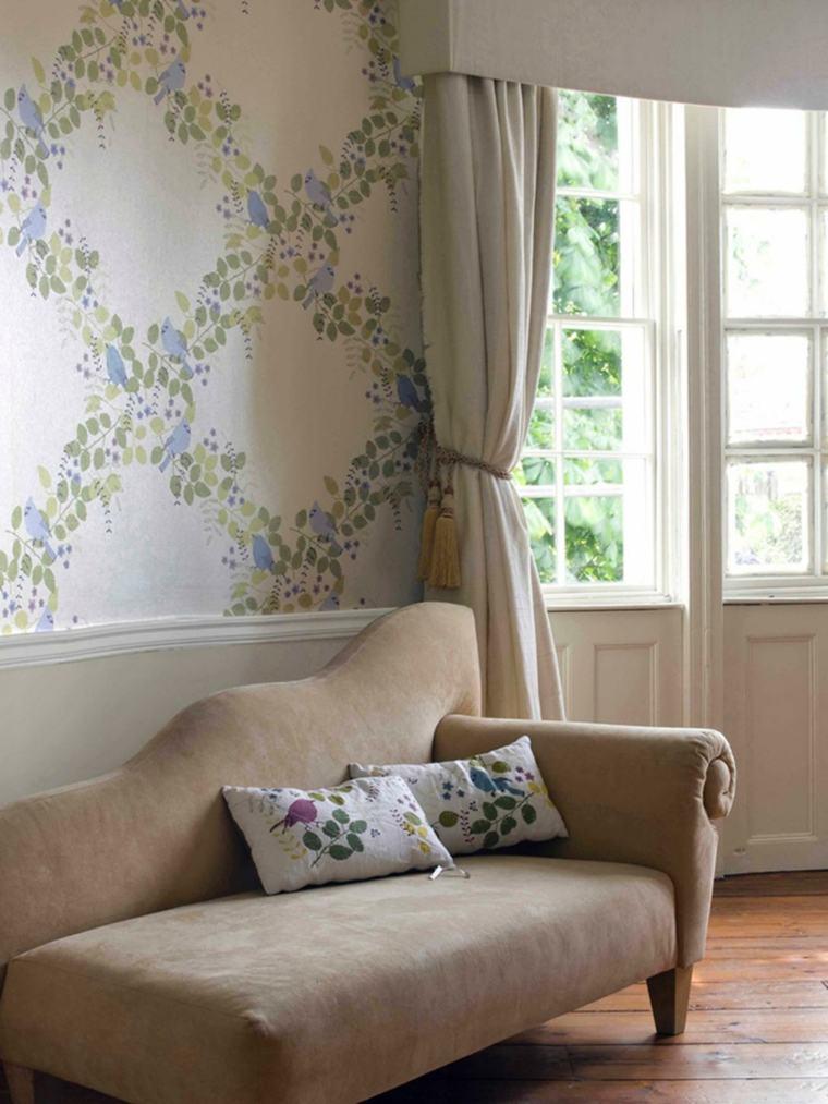 déco mur salon intérieur maison vintage
