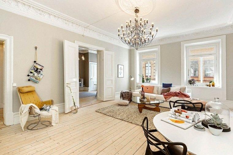 idées decoration salons appartement design scandinave