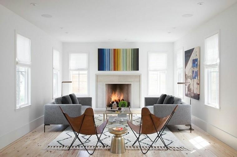 idées decoration scandinave salons elegants canapé et fauteuil design
