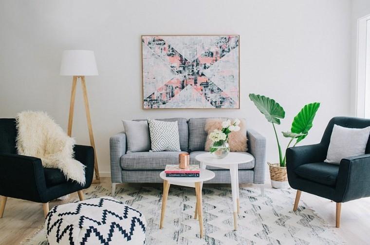 design salon intérieur fauteuils scandinaves bois