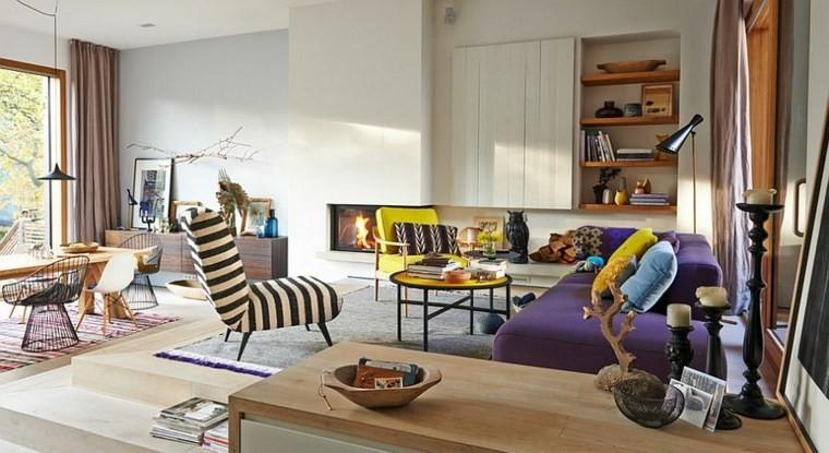 décoration moderne salon ouvert intérieurs scandinaves