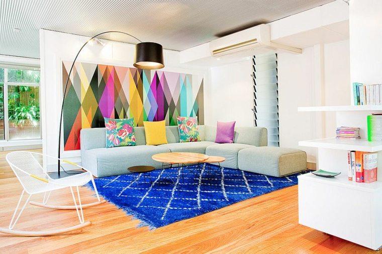 idée décoration nordique salon aménagement blanc bois accents salon