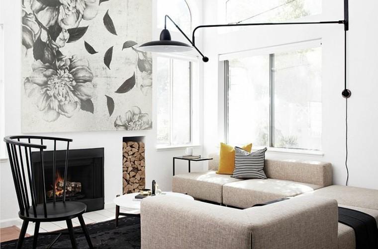 idee aménagement salon déco scandinave canapés beiges