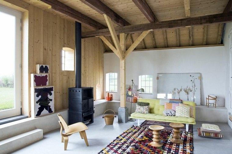idee décoration salon bois mobilier scandinave